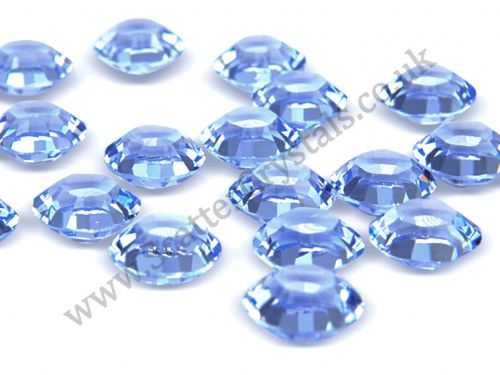 Pk 100 Swarovski Unfoiled Table Crystals, Style 1128, SS29 (6.2mm), Light Sapphire